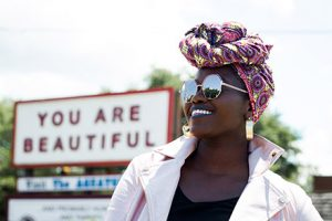 women with the message 'you are beautiful'